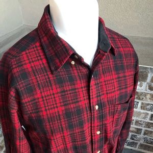 Pendleton Shirt Cotton \ flannel L/S large red